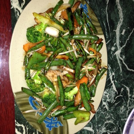 Las Vegas, Nuevo Mexico: This was the night's special; Green Beans Chicken -- really good and filling!