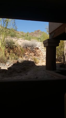 Fountain Hills, Αριζόνα: Serene, nature, quiet, private view from entrance to room.