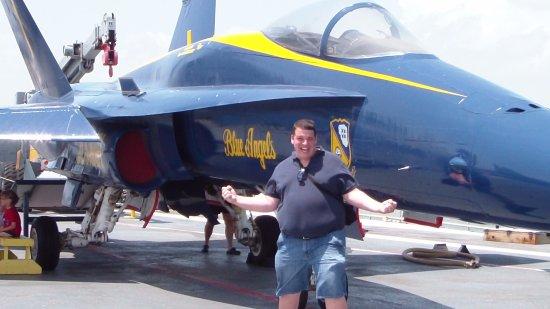 USS LEXINGTON: Blue Angels Plane on Flight Deck