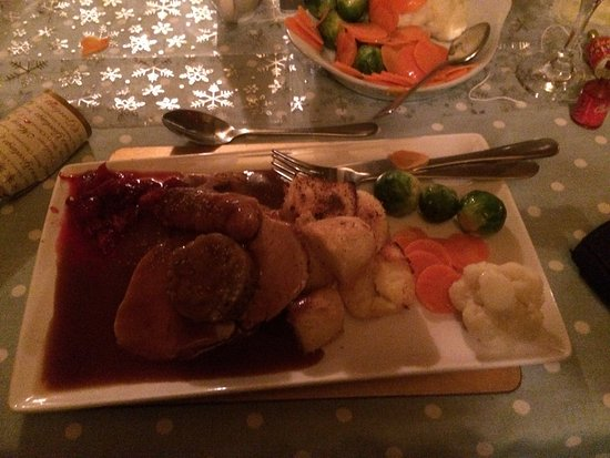 Wivenhoe, UK: Turkey with vegetables