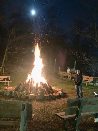Lititz, PA: Bonfire to warmup and cook any food you bring along