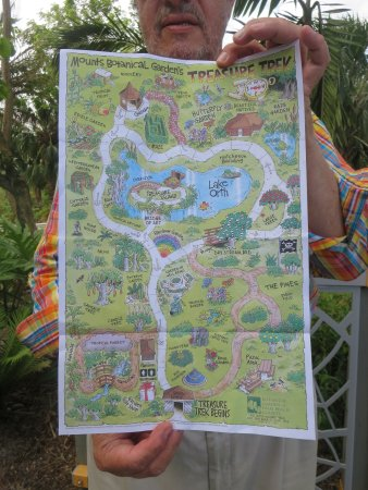 Map Of The Gardens Picture Mounts Botanical Garden