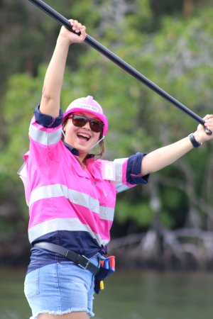Noosaville, Australia: Tori (Jetty17 & SUP Noosa) taking part in Paddle for Pink