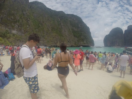 Ko Phi Phi Le: TOO CROWDED! DON'T BOTHER GOING!!