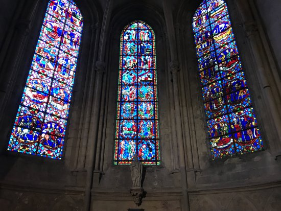Poitiers, France: stained glass windows