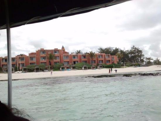 La Palmeraie Boutique Hotel: Hotel vies from the sea
