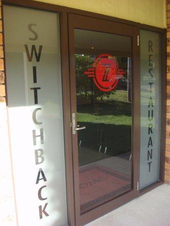 The Switchback Restaurant: Front door of Switchback Restaurant