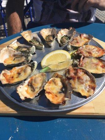Ceduna, Australia: Auf dem Weg von Adelaide nach Perth haben wir ein Dutzend geöffnete Austern für 15,50$ mitgenomm