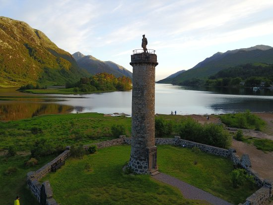 Glenfinnan, UK: Aerial view.