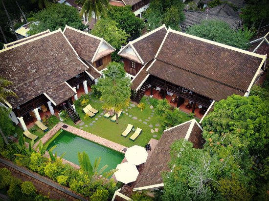 Villa Maydou: Aerial view of the Tradition Buildings and the pool