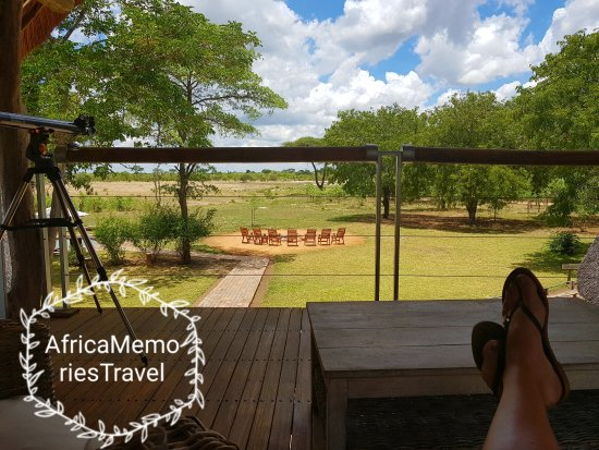 Elephant's Eye, Hwange: View from the top deck of the main area