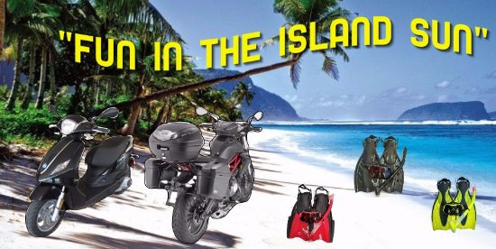 Apia, Samoa:  The Best Scooter, Motorcycle and Snorkel Rental in Samoa