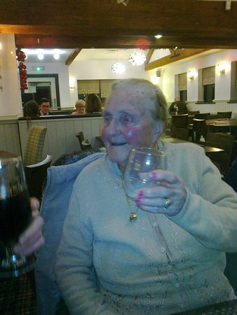 Clayton le Woods, UK: 94 and still enjoying a drink!