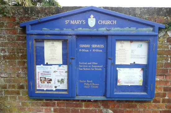 Chartham, UK: notice board