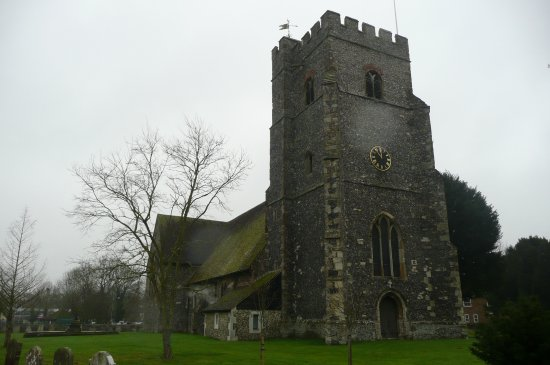 Chartham, UK: the church