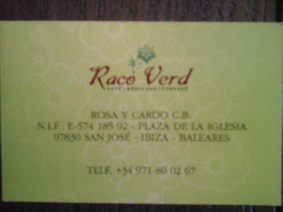 Raco Verd: Heerlijke lokatie met prima eten en muziek