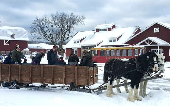 Egg Harbor, WI: Loading up the Sleigh on our Winter Wonderland Tour
