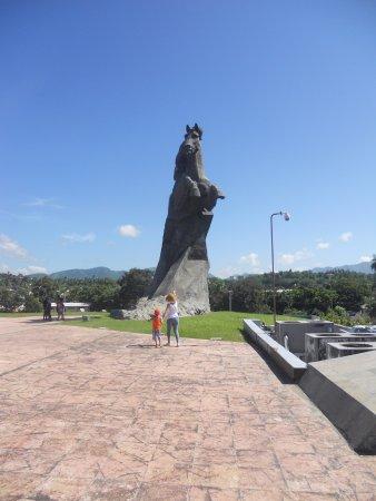 Revolution Plaza (Plaza De La Revolucion) : Le muestro a mi hijo la estatua de Maceo y un poco de su historia