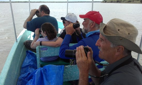 Ladyville, Belize: Enjoying a bird watching tour on the crooked tree Lagoon