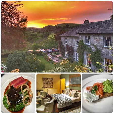 Pen-y-Dyffryn Country Hotel: Sunset, Food & Room