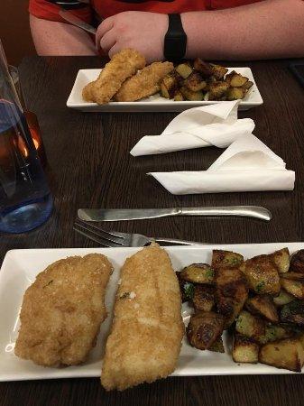 Icelandic Fish & Chips: Ling and garlic potatoes
