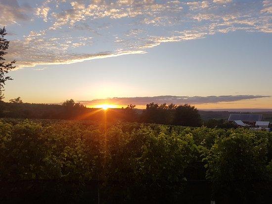 Wolfville, Canada: setting sun