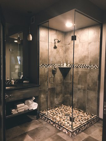 The Firebrand Hotel: Large Walk In Shower U0026 Roomy Counterspace,