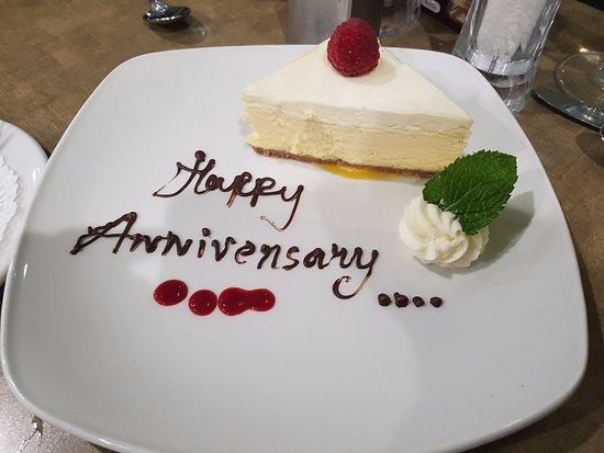 Hotel Blackfoot: Complimentary dessert in restaraunt
