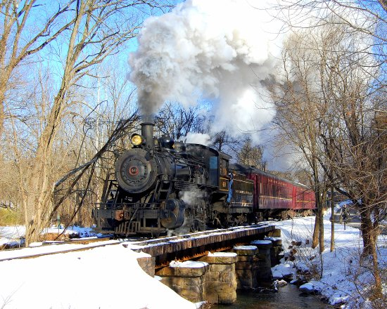 Bucks County, Pensilvanya: New Hope & Ivyland Railroad winter