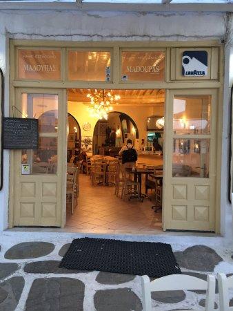 Madoupas Cafe: shop front