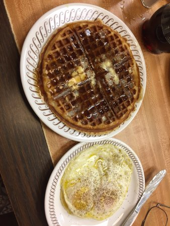 Alachua, FL: waffle and eggs just as ordered