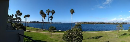 The Dana on Mission Bay: View from our 3rd floor room (2303)