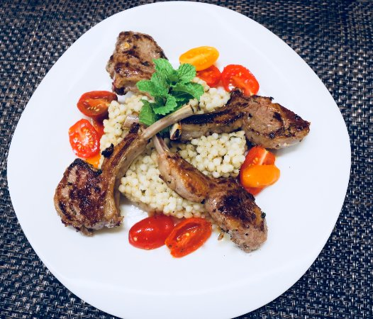 Sebring, FL: Grilled Lamb Chops, Tomatoes and Pearl Couscous