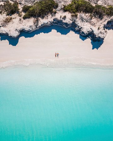Big Blue Unlimited: Pine Cay Beach Drone Photo