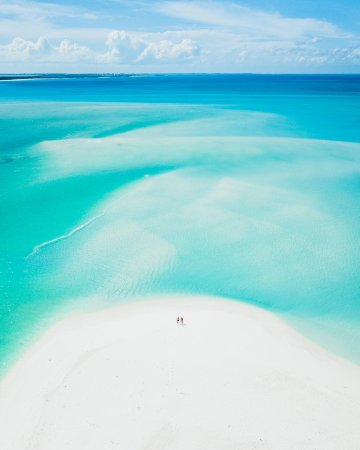 Big Blue Unlimited: Sand Bank Drone Photo