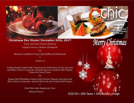 enjoy an elegant christmas eve dinner within the impressive yet fine dining chic restaurant