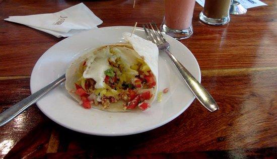 Joma Bakery Cafe: Breakfast Burrito at Joma Bakery