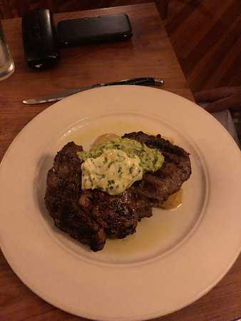 South Egremont, MA: Enormous ribeye cooked perfectly to medium