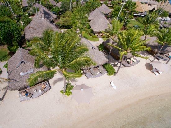 Manava Beach Resort & Spa - Moorea : Beach Bungalow - aerial view