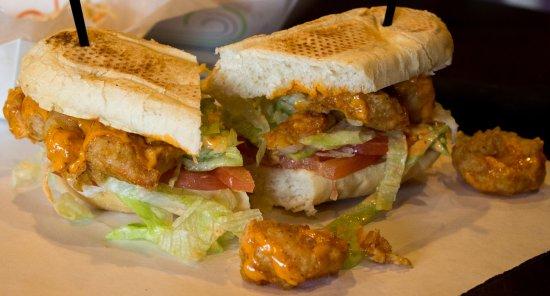 Newton, MA: Shrimp po'boy
