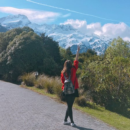 Mt. Cook Village, Nova Zelândia: 雪山很壯觀!