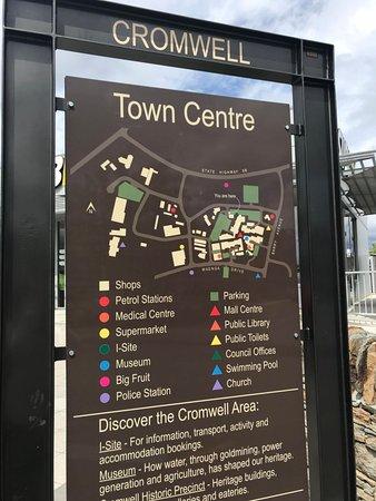 Кромвель, Новая Зеландия: 鎮內地圖