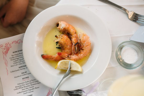 Lambertville, NJ: Grilled Shrimp with Anchovy Butter