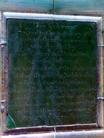 Dumfries, UK: inscription