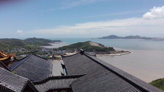 Shengsi County, China: Vista dalla sommità del Tempio