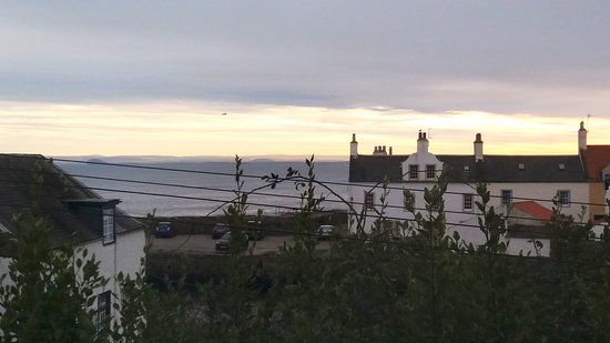 Anstruther, UK: View from window above the trees