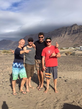 Surf School Lanzarote: Rob John and Pete with Jamie