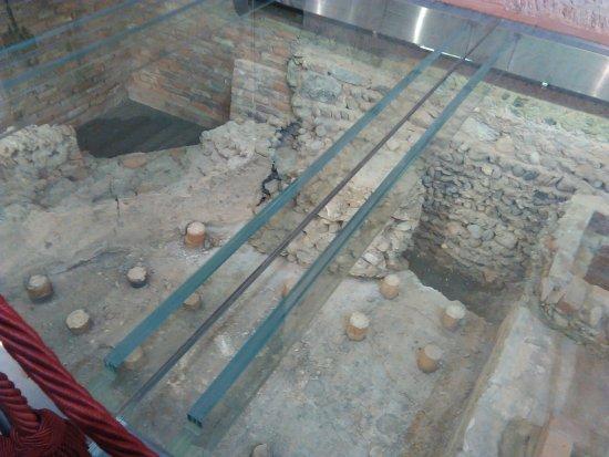 Chiesa di San Pietro all'Olmo: Resti della villa romana