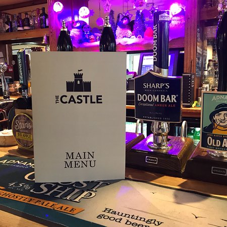 Framlingham, UK: New menu at the castle inn. Proper simplified classic pub grub at very reasonable prices.!