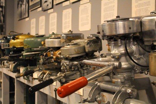 Door County Maritime Museum: Outboard motors.
